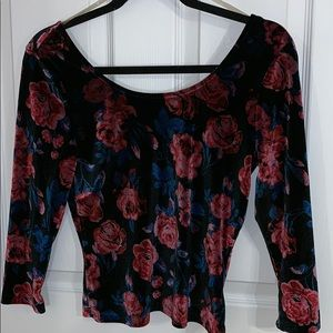 Velvet Rose Scoop Neck Top